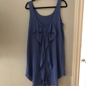 Everly Purple Dress with Bow in Back